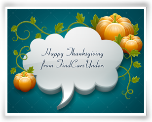 Happy Thanksgiving From FindCarsUnder.com